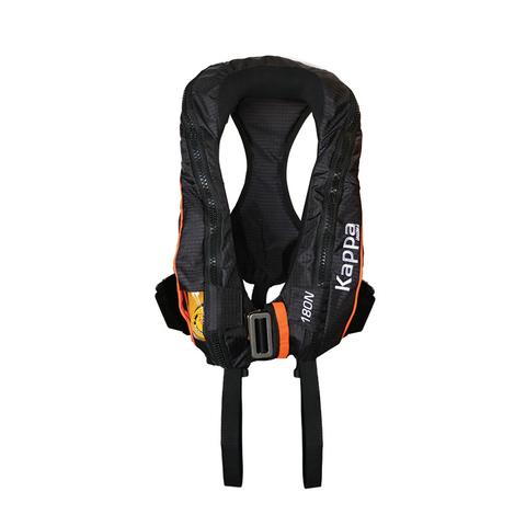 Жилет спасательный надувной автоматический Lalizas Kappa 180N, черный