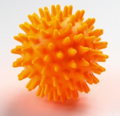 Массажный шарик Ежик , d=6,5 см, цвета в ассортименте