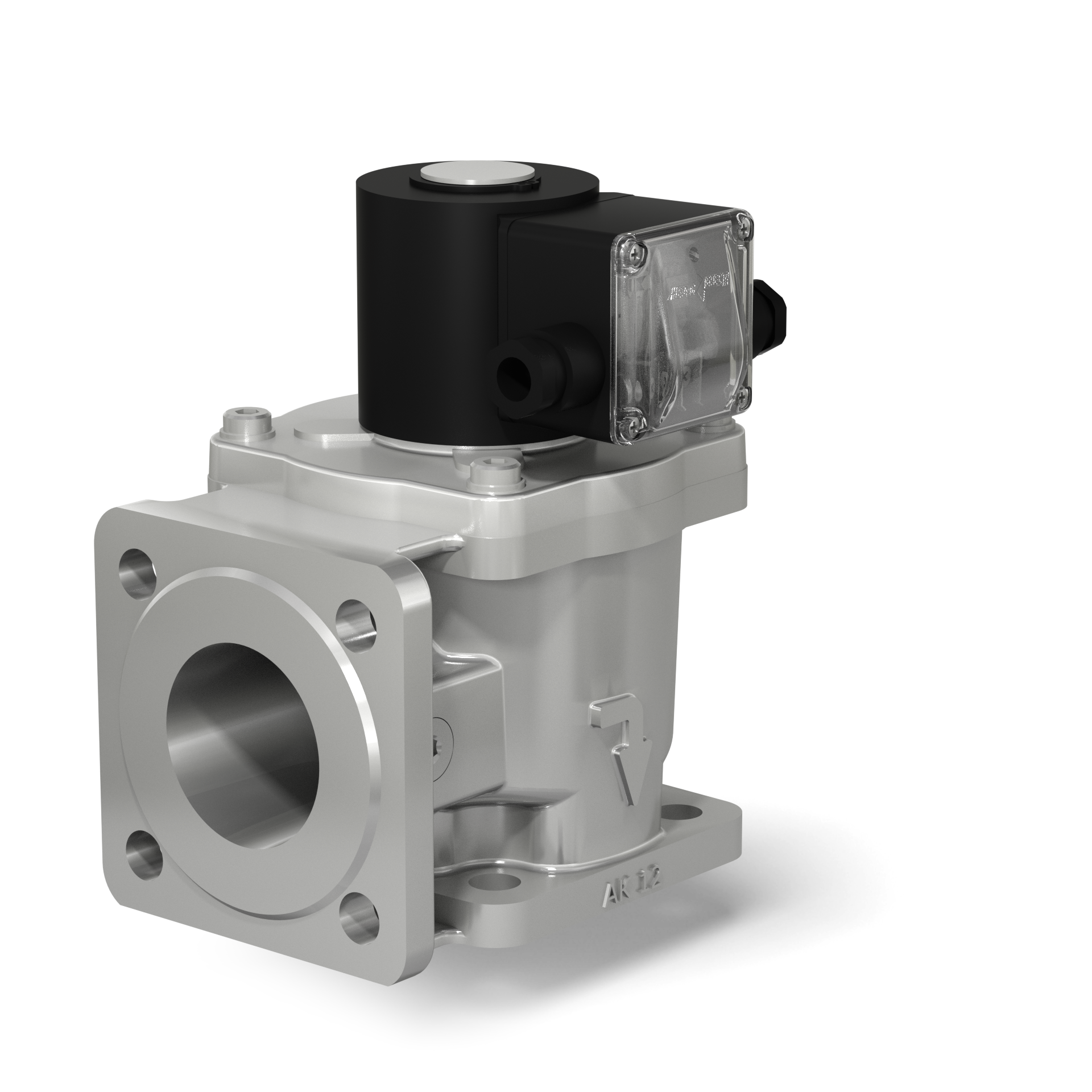 Клапаны электромагнитные двухпозиционные фланцевые угловые на DN 40 - 100
