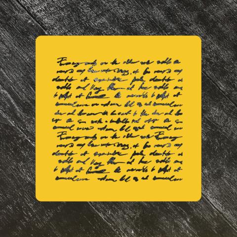 Трафарет письмо №2 На английском