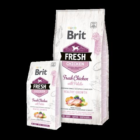 Brit Fresh Chicken & Potato Puppy Сухой корм для щенков Курица и картофель