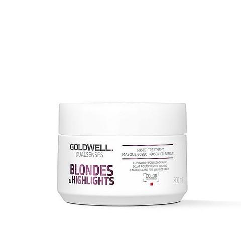 Маска для осветленных и мелированных волос Goldwell Dualsenses Blondes & Highlights 60sec Treatment, 200 мл.