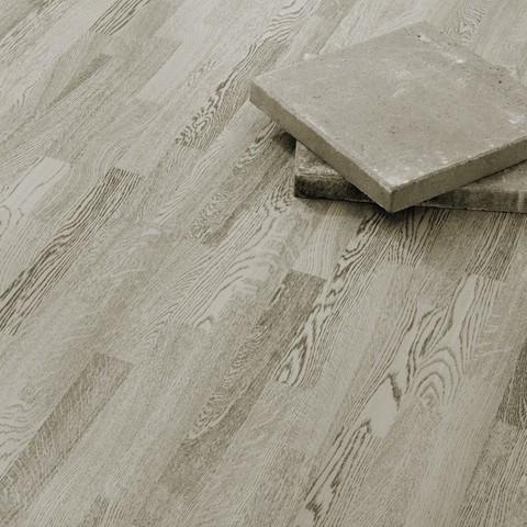 Паркет Karelia Urban Soul Дуб Concrete Grey 3S 14 мм НМЦ/Т/Б 3,41 м2/уп
