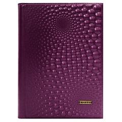 Ежедневник кожаный «Капли» фиолет