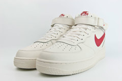 кроссовки Nike Air Force 1 Mid Cream / Red