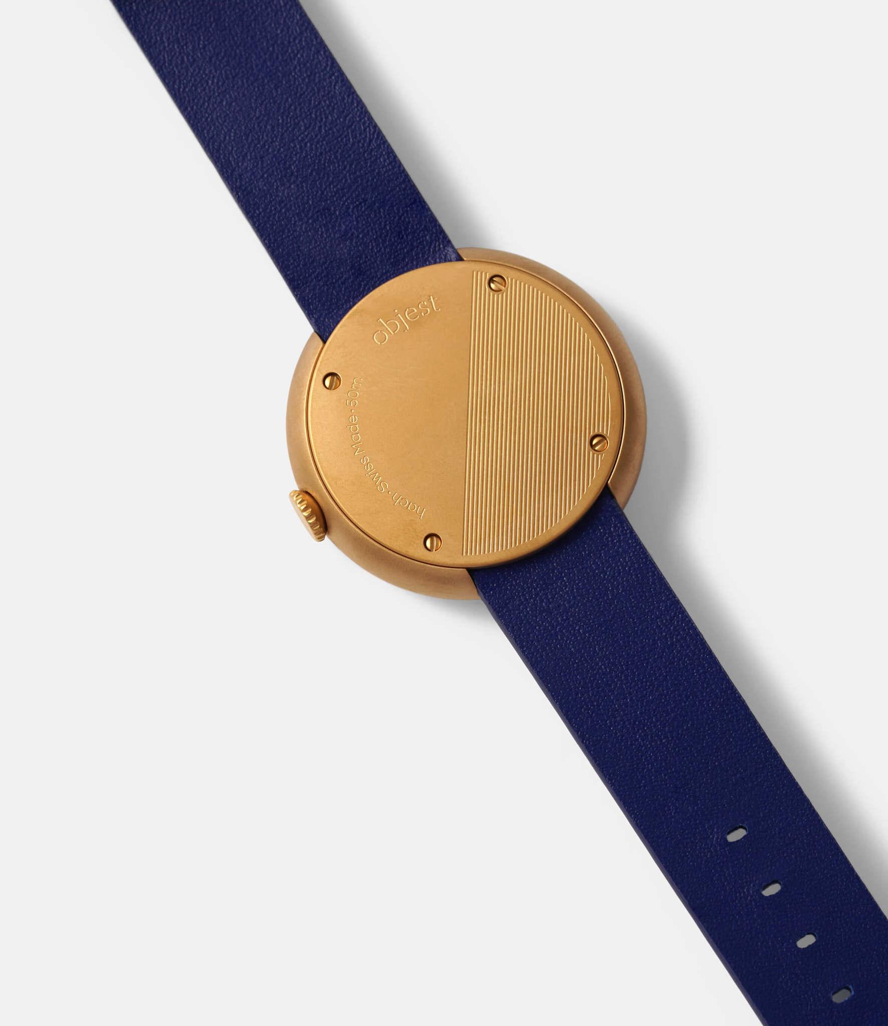 Objest Hach Copper — кварцевые часы с рельефным циферблатом