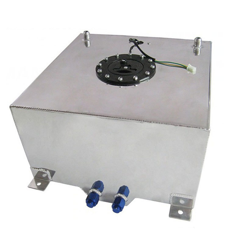 Бензобак с датчиком уровня топлива на 60 литров хромированный