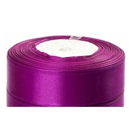 Лента атласная (размер:25мм х 25 ярдов) Цвет:фиолетовый
