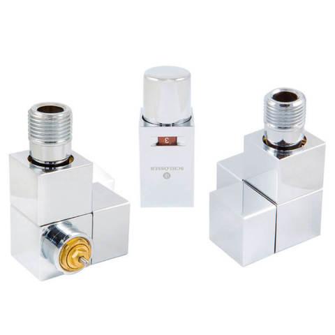 Комплект термостатический Форма осевая Хром. Для стали GZ 1/2 x GW 1/2