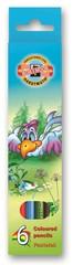 Карандаши цветные BIRDS 3551, 6 цветов