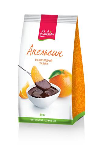 ВИВАЛЬ Апельсин в шоколадной глазури 240г