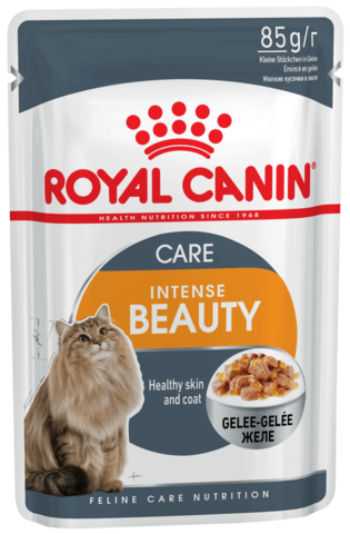 Intense Beauty (в желе) - для поддержания красоты шерсти кошек 85г.
