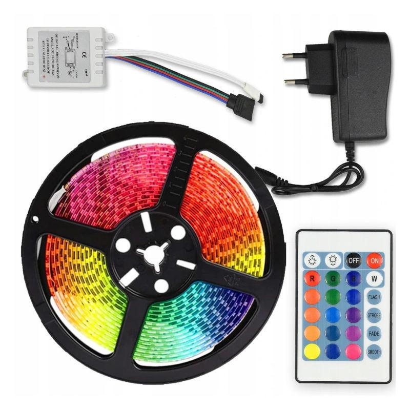 Для праздника Cветодиодная лента LED STRIP 5m с блоком питания RGB (Цветная) vetodiodnaya-lenta-led-strip-5m-s-blokom-pitaniya-rgb-tsvetnaya.jpg