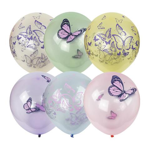 Воздушные шары Бабочки кристалл