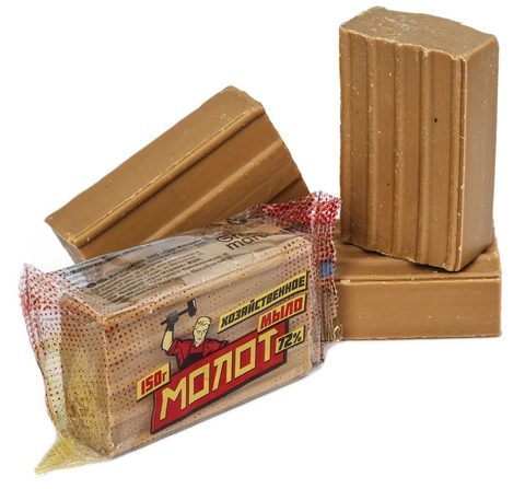 Мыло хозяйственное 72% в упаковке 150 гр.