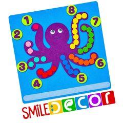 Развивающий коврик Осьминог Smile decor Ф286