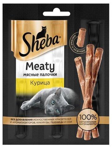 Sheba Meaty Лакомство для кошек Мясные палочки с курицей
