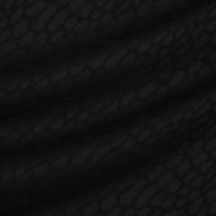 Костюмная ткань из шерсти с эластаном с леопардовыми пятнами в чёрном цвете