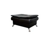 Пуф-кресло Сити в положении пуф, опоры лапа хром