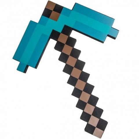 Minecraft: Кирка Алмазная пиксельная 45см