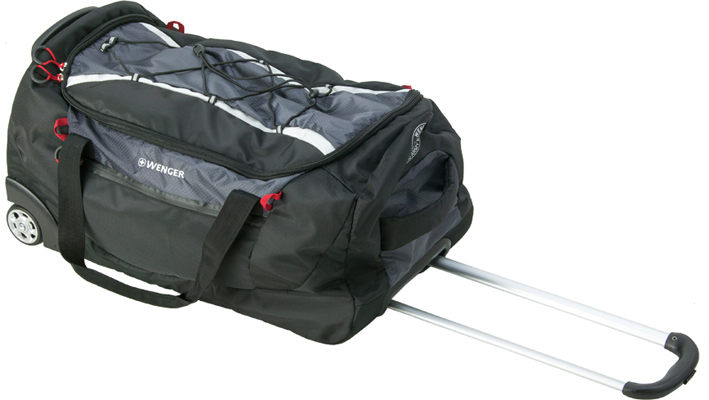 Сумка WENGER на колёсах, 61 л., 60x33x31 см., цвет черный/серый (3053204267)