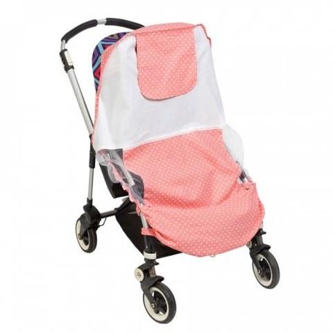 Солнцезащитный тент Mammie для коляски Розовый Горошек 16-11005