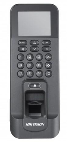 Терминал доступа со встроенными считывателями Mifare карт и отпечатков пальцев DS-K1T804MF