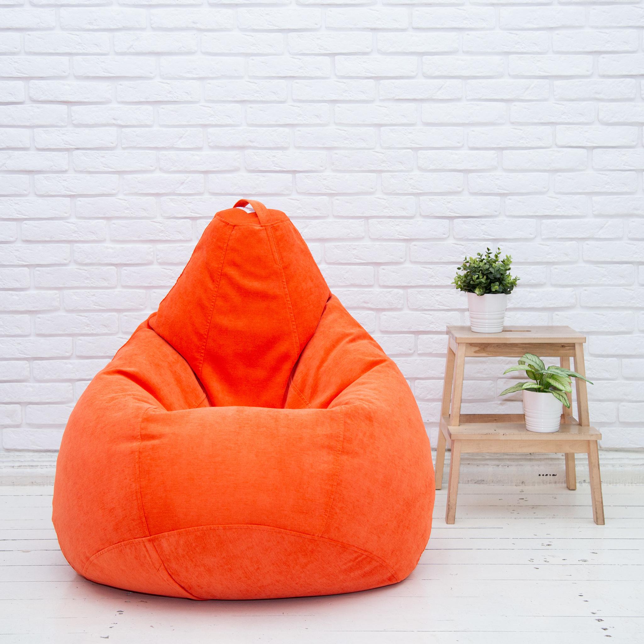 Груша M микровельвет (оранжевая)