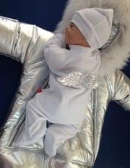 Зимний комплект на выписку из роддома Космонавт Ангел (серебро)