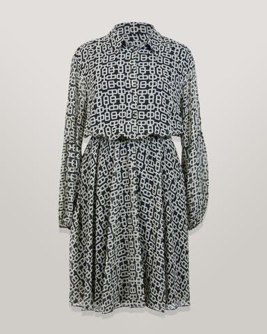 Платье Detective 5051 шифон цепочки