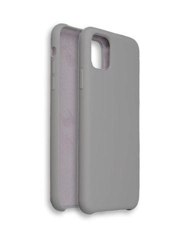 Чехол для iPhone 11 Софт тач мягкий эффект | микрофибра серый