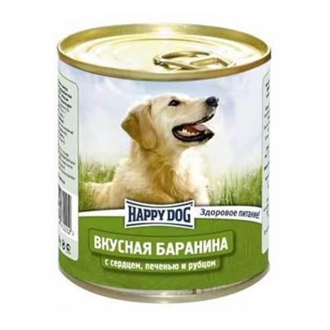 HAPPY DOG Консервы для собак с бараниной, сердцем, печенью и рубцом 9000 г. (750г.*12)