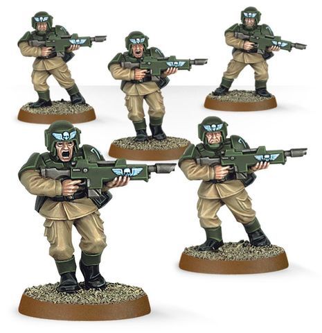 EASY TO BUILD ASTRA MILITARUM CADIANS)