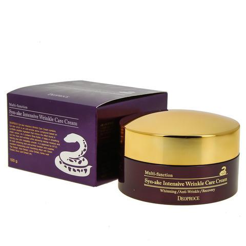 Deoproce Syn-Ake Intensive Wrinkle Care Cream многофункциональный интенсивный крем с пептидом змеинного яда (эффект ботокса) против морщин для зрелой кожи