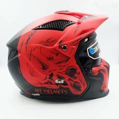 Мотошлем с маской MT Streetfighter Darkness A2 Matt Red