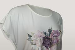 Блузка Marguerite букет надпись к/р