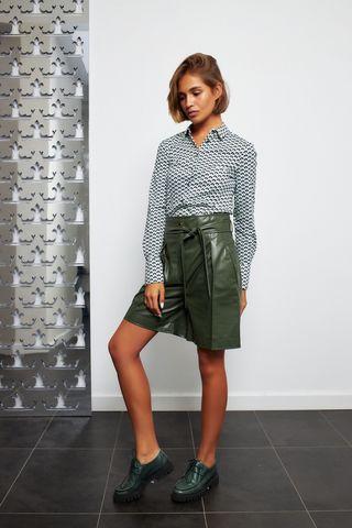 Desoto Трикотажная блуза в узор ромбами