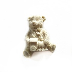 0916 Молд силиконовый. Мишка с паровозиком.