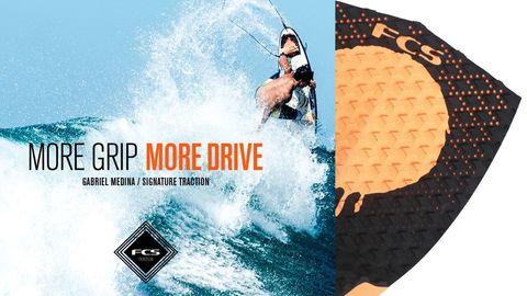 Коврик для серфборда FCS Medina, Black/GM Orange