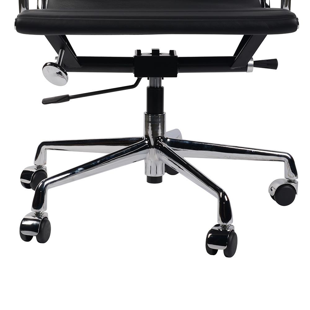 Кресло Eames Style Ribbed Office Chair EA 117 черная кожа - вид 7