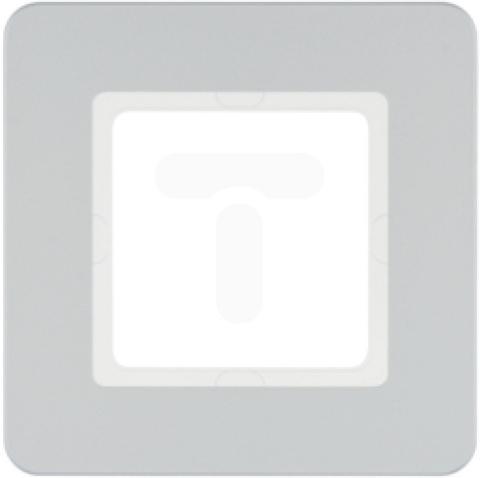 Рамка на 1 пост. Цвет Алюминий. Berker (Беркер). Q.7. 10116184