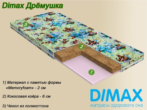 Детский матрас Dimax Дремушка от Мегаполис-матрас