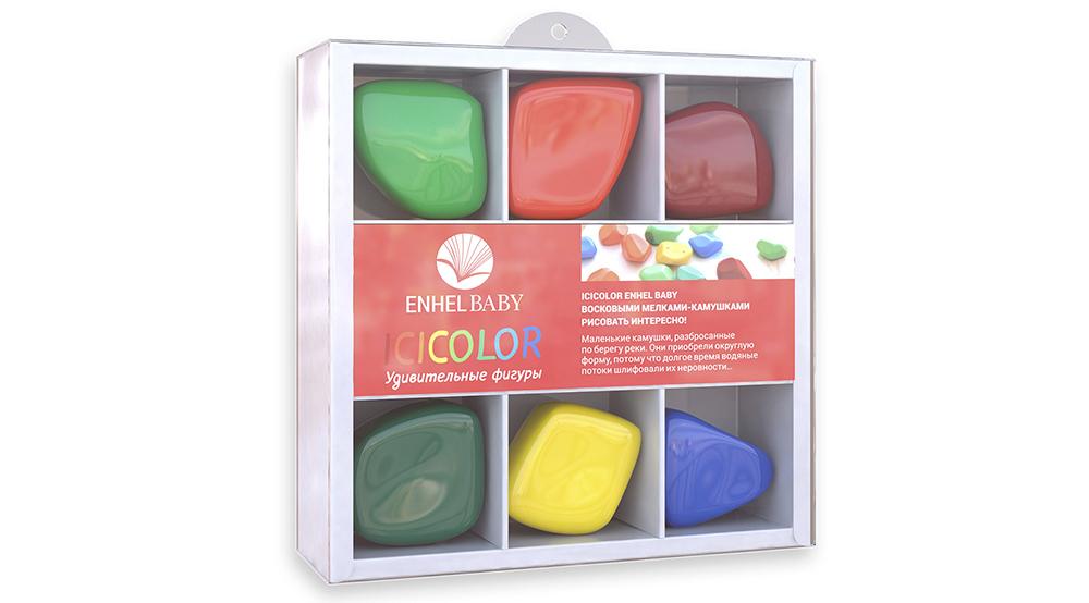 Карандаши цветные ENHEL Kids Color 6 шт