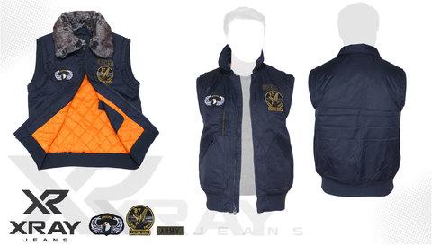 Жилет утеплённый 'Flight Vest Fur W/Patches' Navy