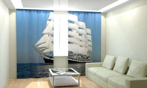 Фотошторы Белый корабль