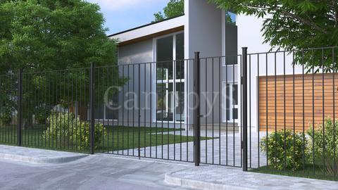 Калитка с забором