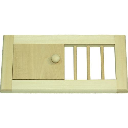 Решетка вентиляционная с задвижкой (малая)