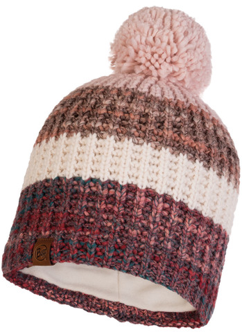 Шапка вязаная с флисом Buff Hat Knitted Polar Alina Blossom Red фото 1