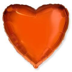 Шар сердце оранжевый