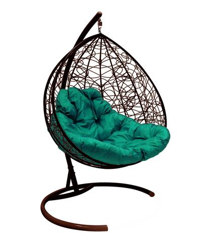 Кресло подвесное Lagos TWIN brown/green